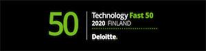 Deloitte Technology Fast 50 2020 Finland -banneri