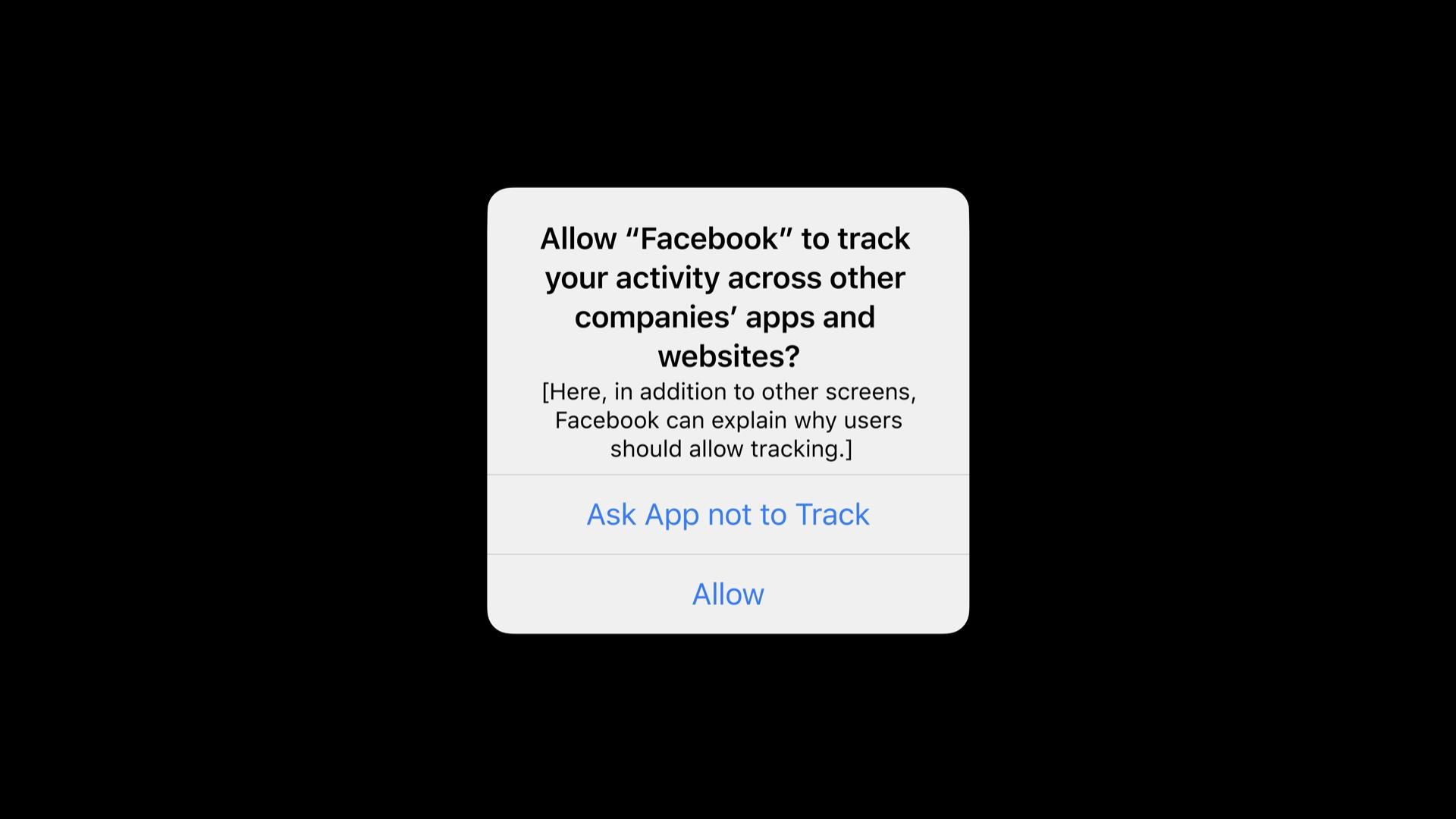 Facebook Apple kehote